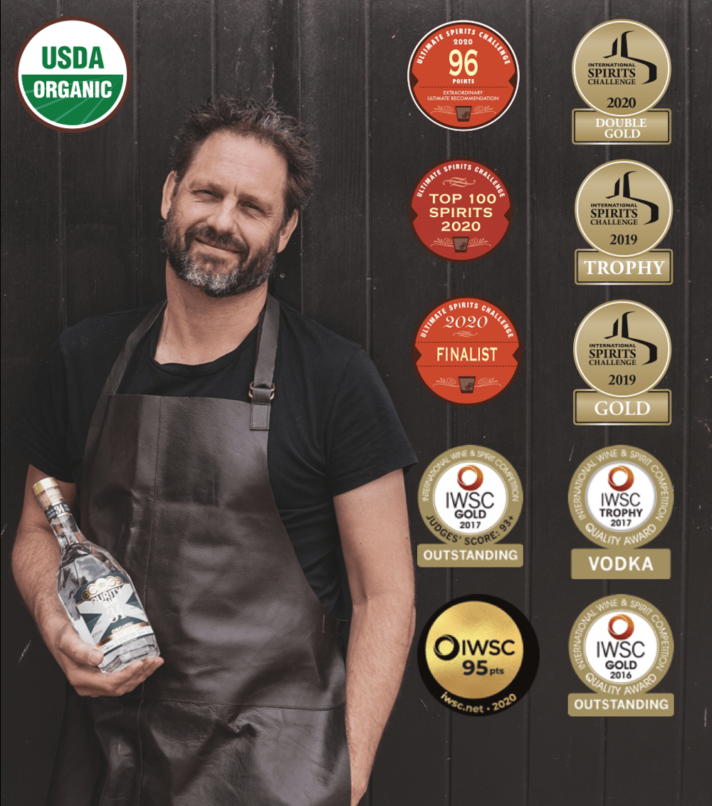 Purity is the highest rated organic distillery in the world based on taste