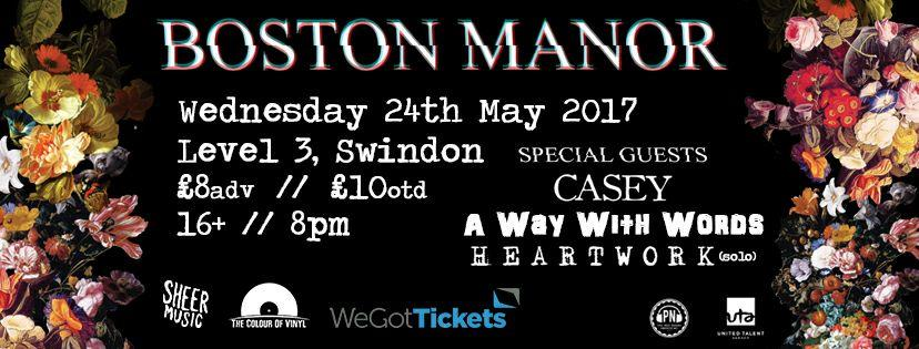 Boston Manor announce Swindon tour stop at Level III thanks to Sheer Music