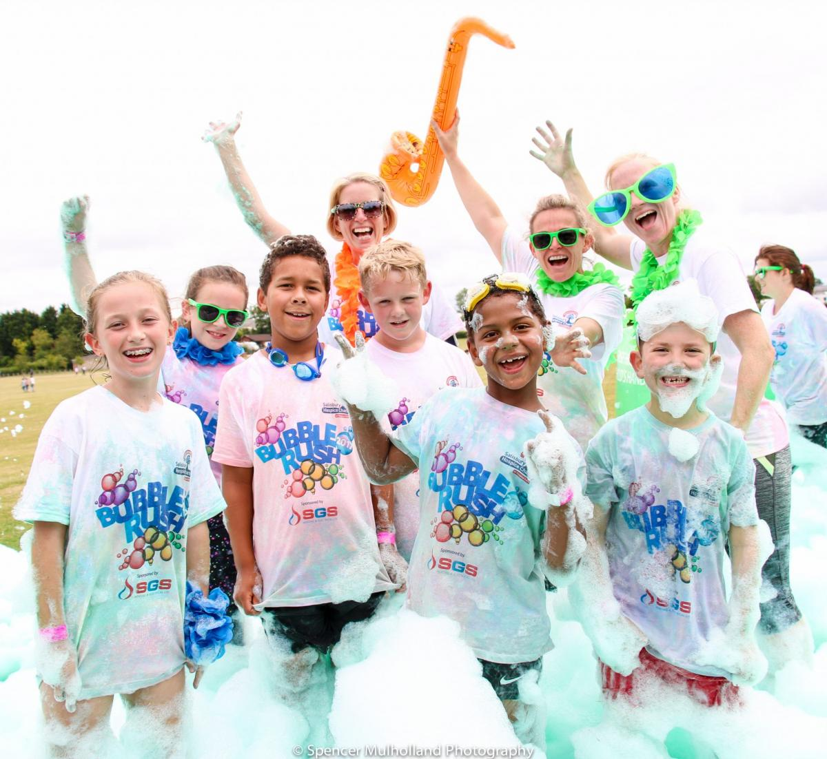 Salisbury Bubble Rush has raised £43,000 and Counting