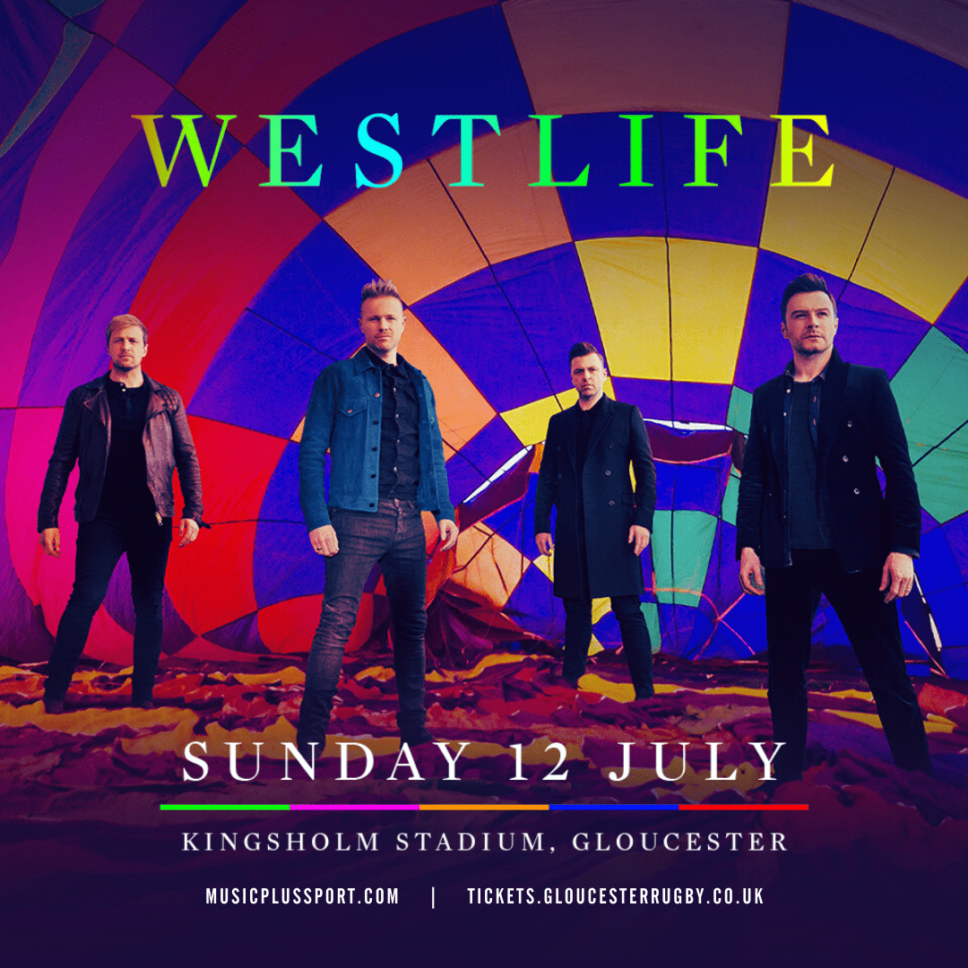 Westlife to play Kingsholm Stadium, Gloucester in July 2020